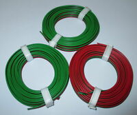 "[1m = 0,53EUR] Drillingslitze 3x5m rot-schwarz-grün ROCO ""NEU"""