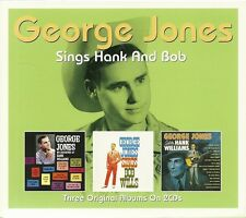 GEORGE JONES SINGS HANK (williams) AND BOB (wills) THREE ORIGINAL ALBUMS 2CD SET