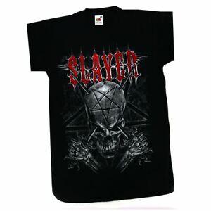 Slayer Skull Men's T-shirt Black Official Licensed Music Small