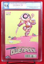 Unbelievable Gwenpool #1 (Marvel 2016) PGX (not CGC) 9.8 NM/MT Babies Variant