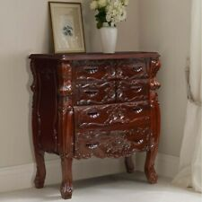 Gothic BLACK Handcrafted Mahogany French style 104x51x110H cm Chest of Drawers