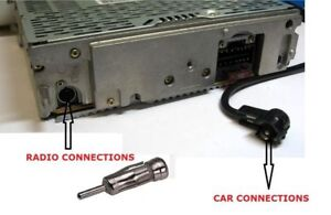 CAR CD RADIO STEREO ISO to DIN MALE AERIAL ARIEL ARIAL ANTENNA ADAPTOR PC5-27