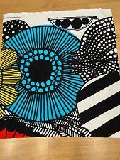 "Marimekko Fabric ""Siirtolapuutarha"" 25x28 Inches, 100% Cotton, Unused"