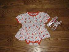 NEW Tennessee Vols Volunteers Baby Girls Dress Size 18M 18 Mo W/ Headband