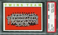 1964 Topps #318 Twins Team Card PSA 8 NM-MT