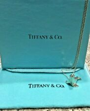 Authentic Vintage Tiffany & Company Sterling Silver Seal Pendant Charm & Chain