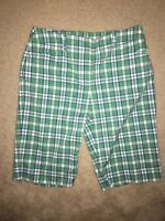 NWOT JONES NEW YORK Green Plaid Knee Length Long Shorts or Capris Pants Size 8