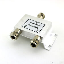 1x 2-Way Coaxial Antenna RF Satellite Cable N Signal Power Splitter 380-2500MHz