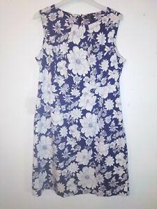 F&F Navy Mix Sleeveless Floral Knee Length Dress Size 18