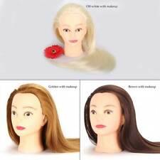 Mannequin Head With Hair Female Cosmetology Manikin Head Dummy Doll Wig Mannequi