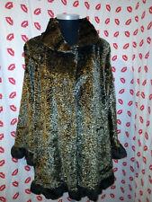Maksa Paris Faux Fur Swing Coat Large