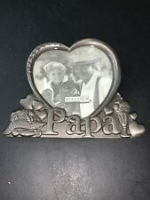 Papa Heart Design Photo Frame 3.5�x5� Pewter Finish Tabletop /Gift