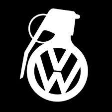 VOLKSWAGEN VW GRENADE BOMB WINDOW STICKER VINYL DECAL JETTA GTI R32 PASSAT #100
