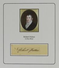 Robert Fulton - Inventor of the Steamboat - Authentic Autograph - RARE!