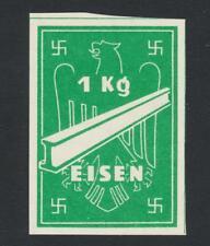 GERMANY WW2, 1Kg EISEN STEEL DENOMINATED CURRENCY STAMP, WAVY LINE WMK, VF NH