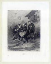 Tyrol-Trachten-Jäger-Jagd - orig. Stahlstich 1857