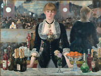 Bar At The Folies Bergere by Edouard Manet, Giclee Canvas Print, various sizes