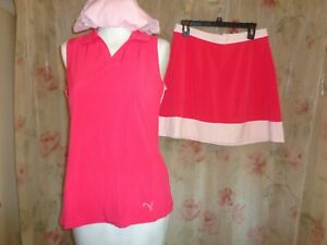 puma golf two piece outfit dry cell top size s/p  skort size s preowned