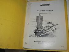 Vintage 1975 Service Manual w/Schematics Woodward Pga Marine Governor J0380