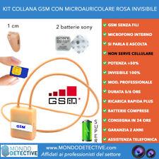 micro auricolare per esami GSM SIM collana invisibile induttiva spy spia new