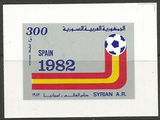 STAMPS-SYRIA. 1982. World Cup Football–Spain Miniature Sheet. SG: MS1528. MNH