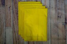 """Yellow Hemstitch 20""""x20"""" Cotton Dinner Napkins 1 Dzn"""