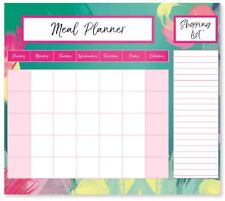 Weekly Magnetic Fridge Meal Diet Planner Shopping List Chart Board Food Prep