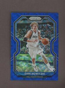 2020-21 Panini Choice Blue Prizm Dirk Nowitzki Dallas Mavericks 25/49