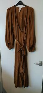 H&M Trend Balloon Sleeve Wrap Dress - Small - (10/12) New