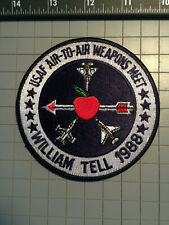 William Tell 1988 Air-to-Air Weapons Meet patch.  New condition.