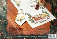 "Bucilla Christmas Music Stamped Cross Stitch Tablerunner Kit - 14"" x 44"""