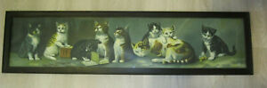 1904 Jos Hoover & Son yard long chromolithograph of cat & kittens H block H book