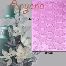 Giant Sugar Lace Mat Flower Leaf Fondant Cake SIlicone Mould Cupcake Mold paste