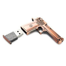32Gb Copper Metal Pistol Gun USB Drive Memory Stick Flash Drive Novelty Gift