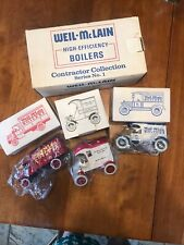 NEW IN BOX WEIL-McLAIN Contractor Collection Series # 1 Die Cast Banks