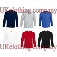 Fruit of the Loom Long Sleeve Adult Cotton t-shirt - mens tops s m l xl 2xl