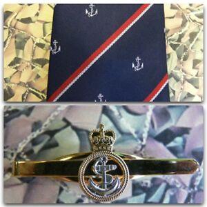 Royal Navy (Crest) Tie & Tie Bar Set Petty Officer RN PO