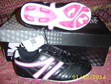 Girl's Athletic Cleats Black Pink White size 12 USA NEW