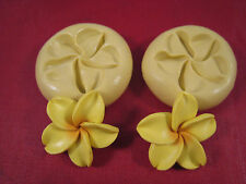 Plumeria Flower 2 set Silicone Molds Gumpaste Fondant Cake Chocolate clay 40B