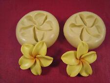Plumeria Flower 2 set Silicone Molds Gumpaste Fondant Cake Chocolate clay #40B