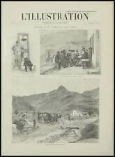 GRAVURE  DERNIER MAIRE CHAUDUN  ACHETE PAR L' ETAT 1895