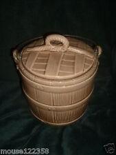 McCoy Art Pottery PAIL  Bucket Cookie    Bisquit Jar