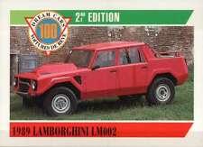 1989 Lamborghini LM002 Italy, Dream Cars Trading Card, Automobile - Not Postcard