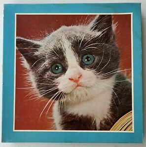 1977 BLUE EYED KITTY JIGSAW PUZZLE, AMERICAN PUBLISHING 6140, 551 PIECES VINTAGE