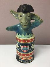 Empty Vintage 1976 Jim Beam Decanter Democrat Donkey Bottle Political