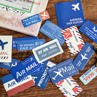 Eg _ Air Courrier Autocollants par Avion Voyage Artisanat Papier Scrapbook