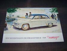 TOPRARITÄT Herrlicher Prospekt Wartburg 311 Limousine von 1956 !!!