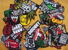 Lot of 25 Wholesale Music Rock Band Metal Punk Iron On Patch toppe toppa Sew #11