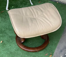 Modern EKORNES Stressless TAUPE BEIGE Leather Ottoman ONLY Foot Stool NORWAY