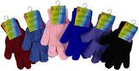 New Boys Girls Children Magic Stretch Winter Warm Acrylic Gloves Christmas Gift